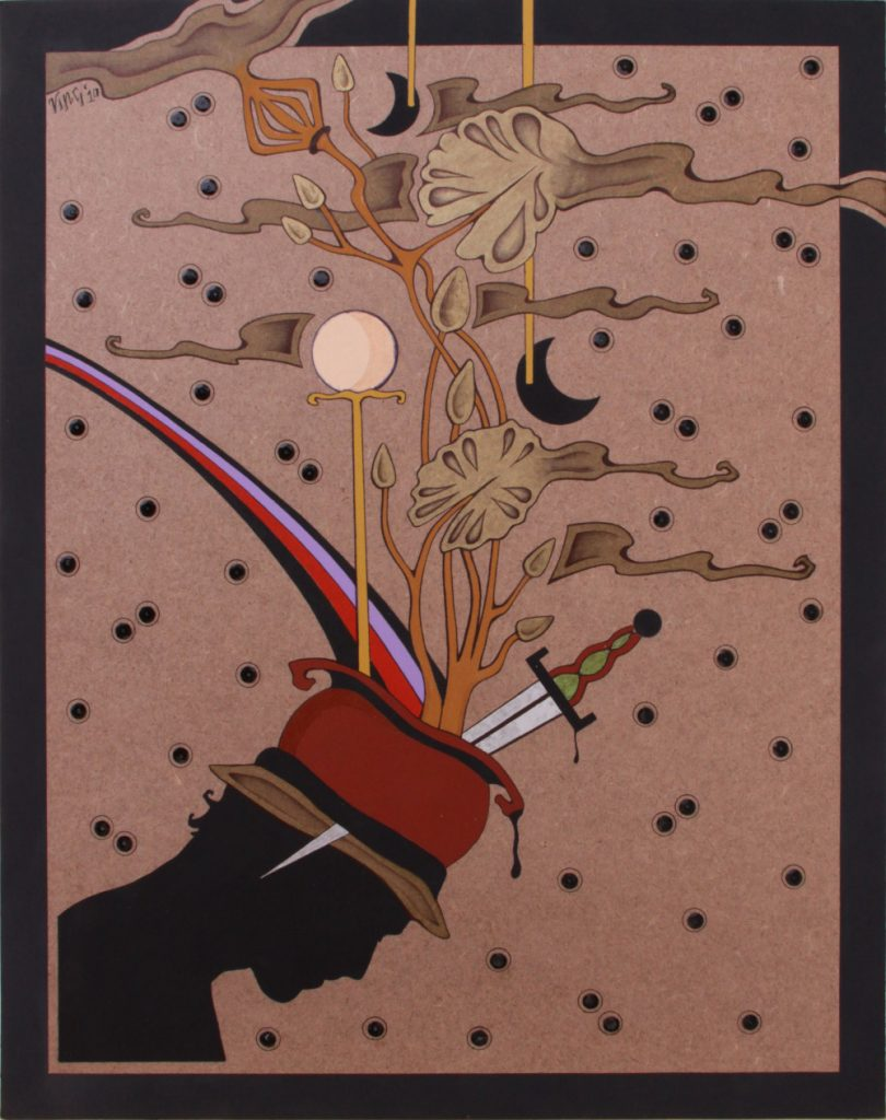 Acrilico su masonite 2010 cm.35x45