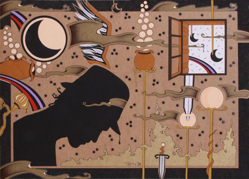 Acrilico su masonite 2010 cm.70x50