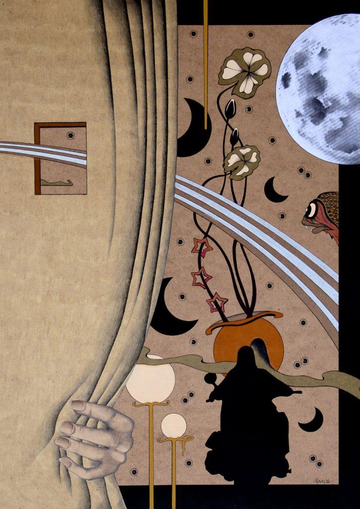 tcrilico su masonite 2011 cm.50x70