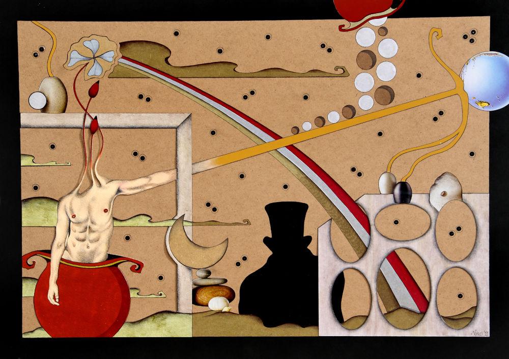 Acrilico su masonite 2011 cm.50x70